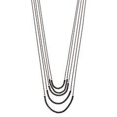 Simply Vera Vera Wang Two Tone Multi Strand Long Necklace