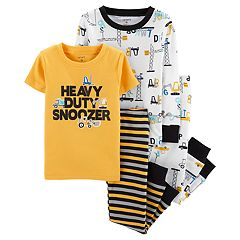 Toddler Boy Carter's Construction Truck Top & Bottoms Pajama Set