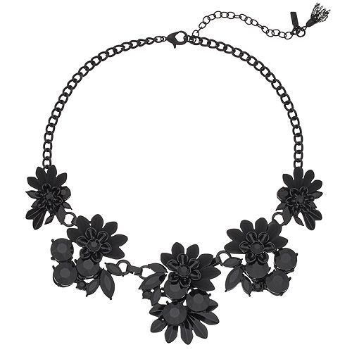 Simply Vera Vera Wang Black Flower Statement Necklace