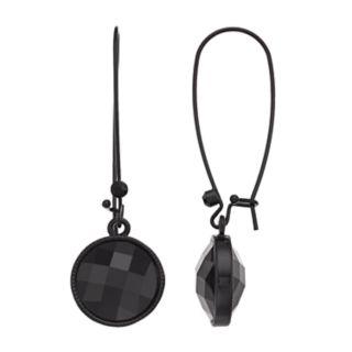 Simply Vera Vera Wang Black Circle Drop Earrings