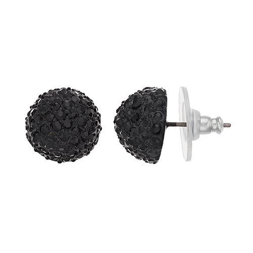 Simply Vera Vera Wang Black Fireball Stud Earrings
