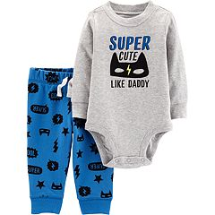 Baby Boy Carter's 'Super Cute Like Daddy' Graphic Bodysuit & Pants Set