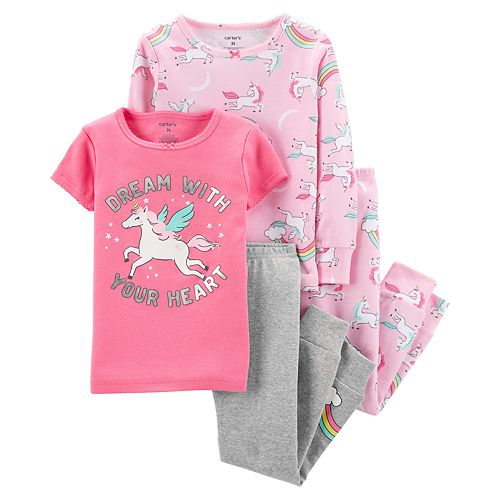 Baby Girl Carter s Swan Tops   Bottoms Pajama Set  23e6f4223