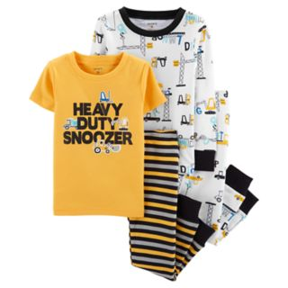Baby Boy Carter's Construction Truck Top & Bottoms Pajama Set