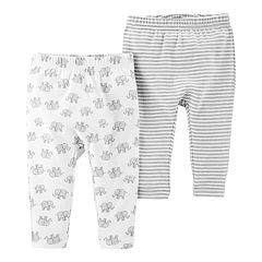 Baby Little Planet Organic by Carter's 2 Pack Striped & Elephant Knit Pants