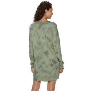Juniors' Mudd® French Terry Zip Sweatshirt Dress