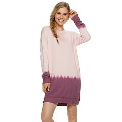 Juniors' Mudd® French Terry Zip Sweatshirt Dress