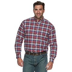 Big & Tall IZOD Newport Classic-Fit Plaid Oxford Button-Down Shirt