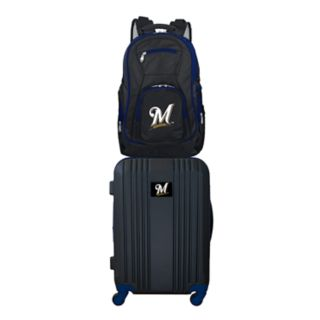 Milwaukee Brewers Wheeled Carry-On Luggage & Backpack Set