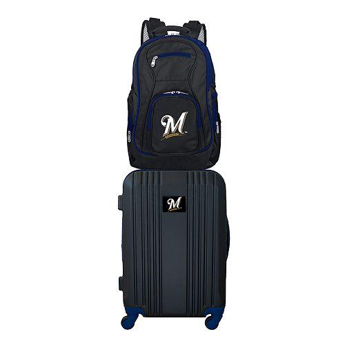 Milwaukee Brewers Wheeled Carry-On Luggage & Backpack Set