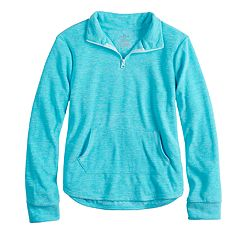 Girls 7-16 & Plus Size SO® Quarter-Zip Microfleece Pullover