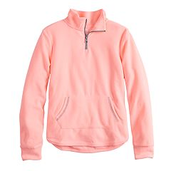 Girls 7-16 & Plus Size SO® Quarter-Zip Microfleece Pullover