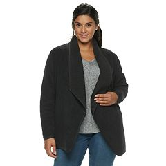 Plus Size SONOMA Goods for Life™ Supersoft Fleece Sherpa Cardigan