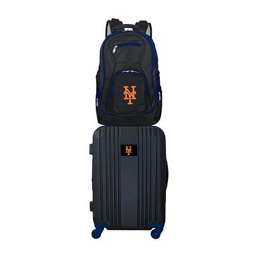 New York Mets Wheeled Carry-On Luggage & Backpack Set