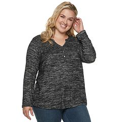 Plus Size SONOMA Goods for Life™ Henley Top