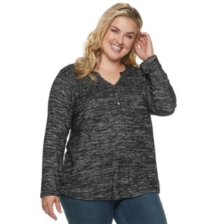 Plus Size SONOMA Goods for Life? Henley Top
