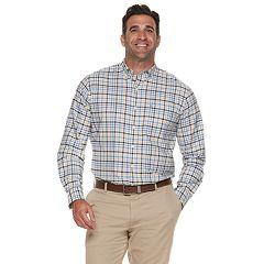 Big & Tall IZOD Newport Classic-Fit Plaid Oxford Button-Down Shirt