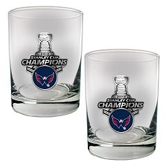 Washington Capitals 2018 Stanley Cup Champions Rocks Glass Set