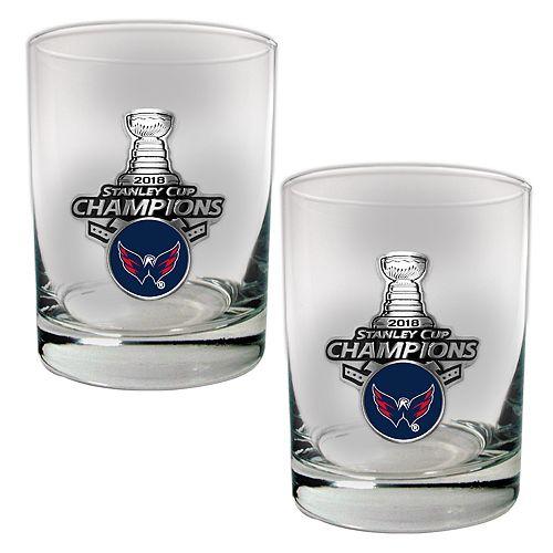 Washington Capitals 2018 Stanley Cup Champions Rocks Glass Set