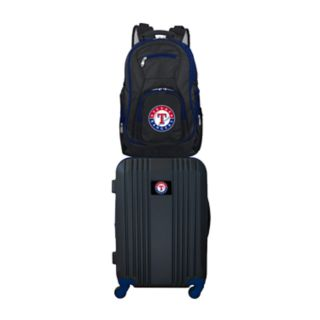 Texas Rangers Wheeled Carry-On Luggage & Backpack Set