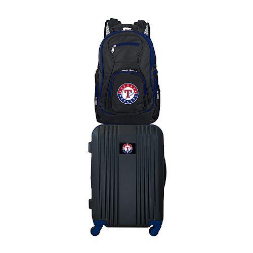 Texas Rangers Wheeled Carry-On Luggage & Backpack Set