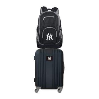 New York Yankees Wheeled Carry-On Luggage & Backpack Set