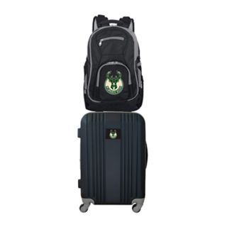 Milwaukee Bucks Wheeled Carry-On Luggage & Backpack Set