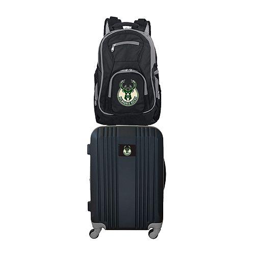 Milwaukee Bucks Wheeled Carry-On Luggage & Backpack Set