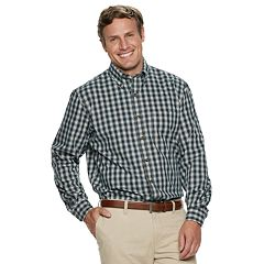 Big & Tall IZOD Plaid Button-Down Shirt