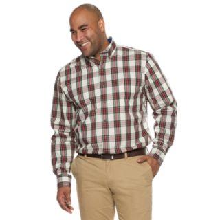 Big & Tall IZOD Plaid Button-Down Shirt