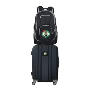 Boston Celtics Wheeled Carry-On Luggage & Backpack Set