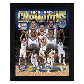 Golden State Warriors 2018 NBA Finals Champions Framed Photo