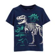 Toddler Boy Carter's Dinosaur Skeletons Slubbed Graphic Tee