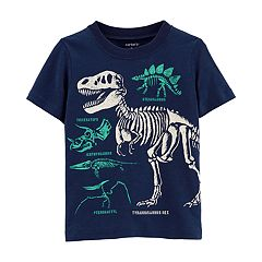 Toddler Boy Carter's Dinosaur Skeletons Slubbed Graphic Tee