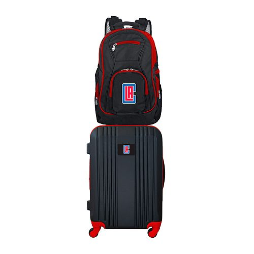 Los Angeles Clippers Wheeled Carry-On Luggage & Backpack Set