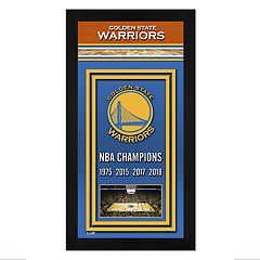 Golden State Warriors 2018 NBA Finals Champions Banner Framed Photo