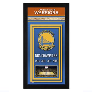 Golden State Warriors 2018 NBA Finals Champions Banner Framed Photo
