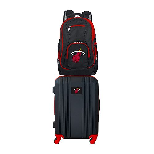 Miami Heat Wheeled Carry-On Luggage & Backpack Set
