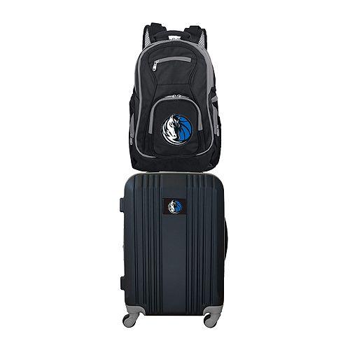 Dallas Mavericks Wheeled Carry-On Luggage & Backpack Set