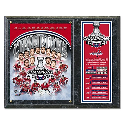 Washington Capitals 2018 Stanley Cup Champions Plaque
