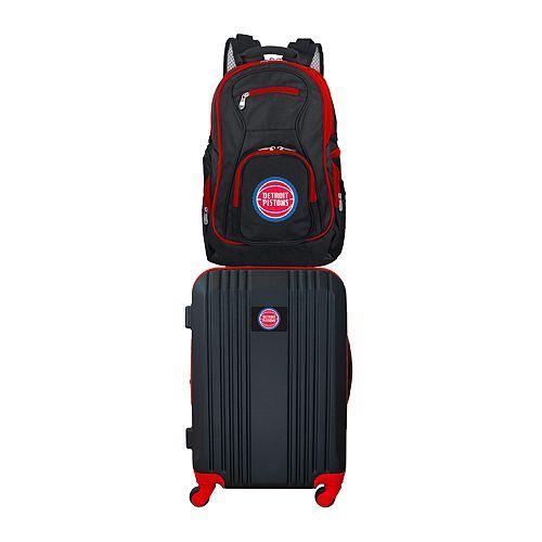 Detroit Pistons Wheeled Carry-On Luggage & Backpack Set