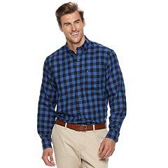 Big & Tall IZOD Classic-Fit Plaid Flannel Button-Down Shirt