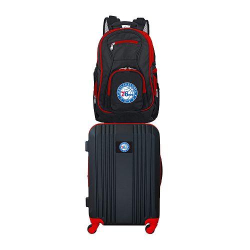 Philadelphia 76ers Wheeled Carry-On Luggage & Backpack Set