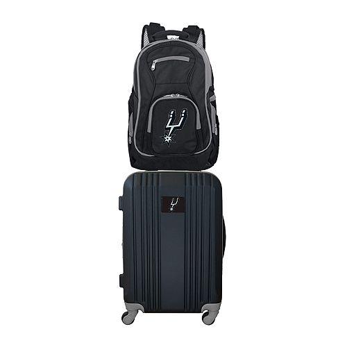 San Antonio Spurs Wheeled Carry-On Luggage & Backpack Set