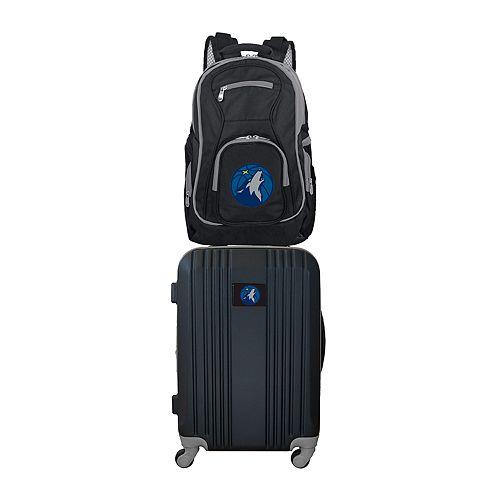 Minnesota Timberwolves Wheeled Carry-On Luggage & Backpack Set