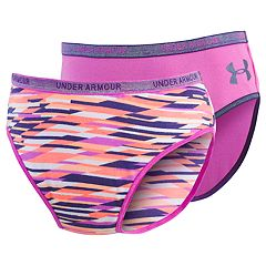 Girls 7-16 Under Armour 2-pack Geo Stripe Bikini Panties