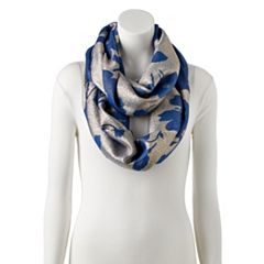 Women's Apt. 9® Two Tone Floral Infinity Scarf