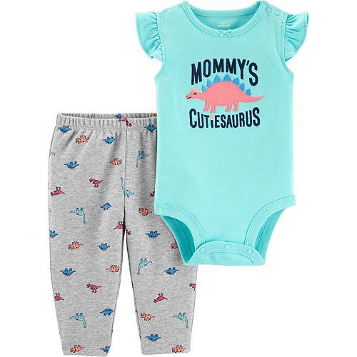 Baby Girl Carter's Dinosaur Bodysuit & Pants Set