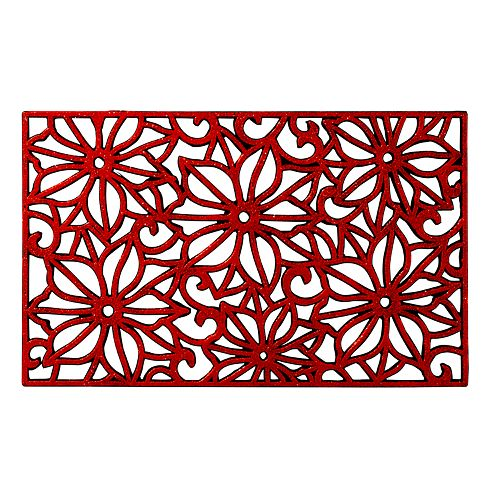 Natco Holiday Shimmer Vulcanized Recycled Rubber Doormat - 18'' x 30''