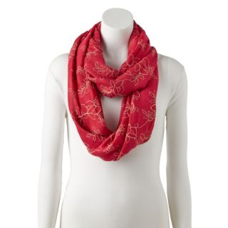 Women's Apt. 9® Floral Embroidered Infinity Scarf
